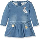 NAME IT Baby-Mädchen Kleid Nitarona Swe Dnm Dress F NB, Blau (Light Blue Denim), 62