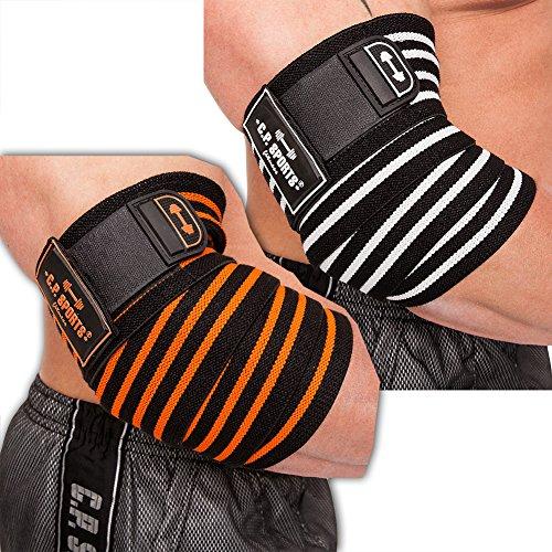cp-sports-38743-vendaje-profesional-para-el-codo-tamao-nico-color-negro-y-plateado