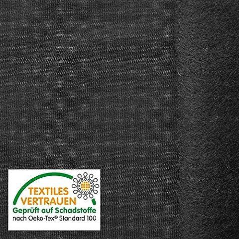 OEKO-TEX® Tela de algodón de alta calidad - Para sudaderas, ropa deportiva y mucho más - 8 colores - Por metro (Gris