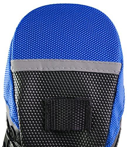 Wasserdicht Fahrrad Umschnall Bike Keil Sattel Sitz Tasche für Radfahren Blau