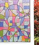 Concus-T Fensterfolie Selbstklebend Sichtschutzfolie Sonnenschutz Statisch Folie Bunte Malerei 90x200cm