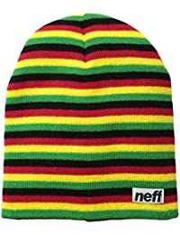 Neff Unisex Neff Duo Stripe Beanie Red Black Duo Stripe