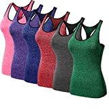 FOLLOWUS Frauen 3 Packung Kompression Trocknen Fit Sport Yoga Tank Tops