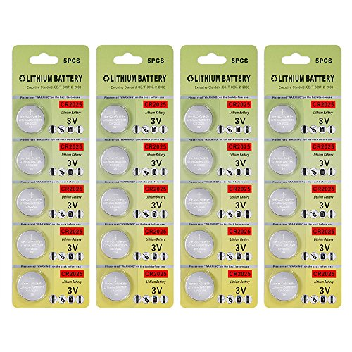 thium Battery,Electronic Button Cell batteries for Toys Calculators Watches Led Light Candles (20 pcs) ()