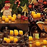 AMIR 9er Led Kerzen mit Fernbedienung, Flammenlose Kerzen mit Timerfunktion, elektrische teelichter, 3 Modi, Batteriebetriebene Kerzen für Weihnachtsdeko, Hochzeit, Geburtstags Party ( Warmweiß )