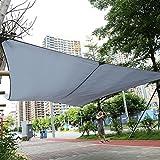 GOTOTOP Schatten Segel Rechteckig, Sonnensegel Garten UV-Schutz Atmungsaktive Überdachung, 3 x 4m Markisen für Balkon und Terrasse