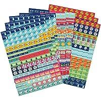 Paquete de Pegatinas de Recordatorio de Boxclever Press para Agenda y Calendario. 1152 Pegatinas para Organizar. Coloridos Stickers Autoadhesivos para Planificar Actividades, Eventos, Tareas y más