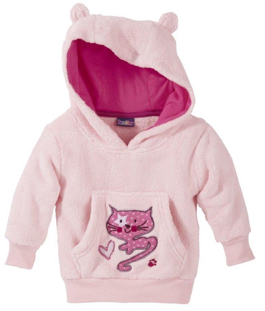 Pullover Baby Babyteddypullover Kapuze mit Öhrchen Kuschelig 62/68 ROSA Katze