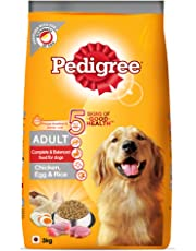 Amazon Exclusive - Pedigree Adult Dog Food (High Protein variant) – Chicken, Egg & Rice, 3 Kg Pack