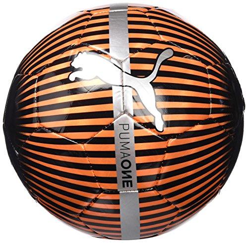Puma 82821 22  One Chrome Ball - bola, Rojo ( Red Blast-Puma Black-Silver), 4