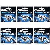 30Klingen Gillette Sensor Excel Rasierklingen Druckerpatronen Refill (5Klingen X 6Stück)