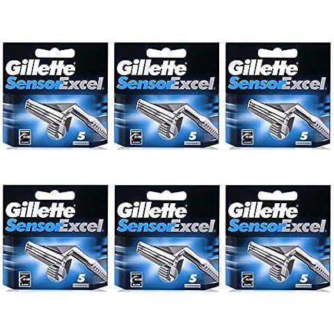 30Klingen Gillette Sensor Excel Rasierklingen Druckerpatronen Refill