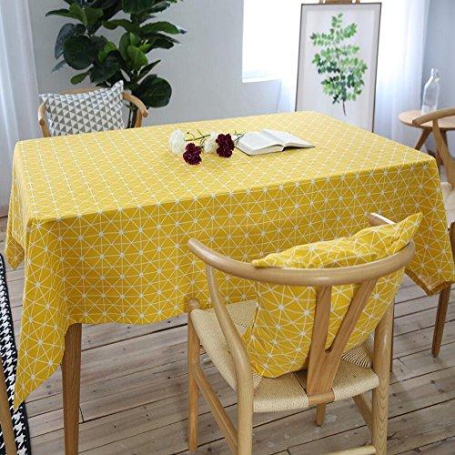 Z&N Table Cloth Modernes luxuriöses Flachs Tischtuch Casual Dining Wischen Sauberes Mehrzweckhandtuch Waschbaryellow140*250cm Computer Sauber Wischen