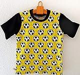 adonia mode Kinder T-Shirt, Kurzarm Shirt für kleine Fußball Fans, 0-24 Monate