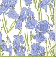 Idea Regalo - Caspari Iris - Gioco fantasia tovaglioli, iris disegno