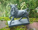 Traumschöne Dekofigur Statue, Bulle, Stier, Torro, schwarz 30 cm