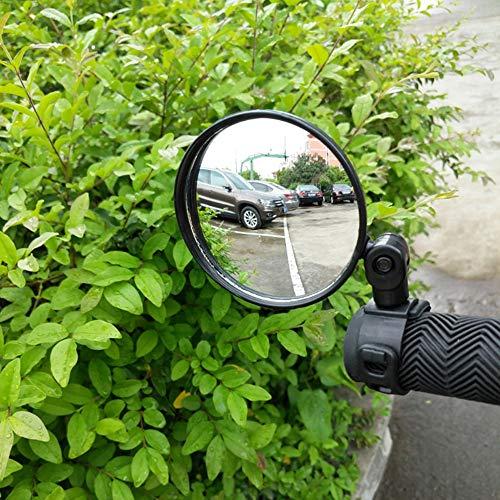 Bainuojia Fahrradspiegel Cyclop - Rückspiegel für Fahrrad/E-Bike/Roller/Mofa/Rollstuhl/Rollator/Kinderwagen/Golf Cart mit Schwanenhals (Spiegel Größe:28cm*8 * 0.6, Rohrmontage,)