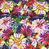 Stoffe Werning Baumwolljersey Digitaldruck Blumenmeer bunt