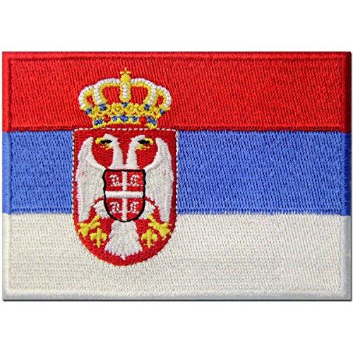Serbien-Flagge Serbischer Balkan Emblem Bestickter Aufnäher zum Aufbügeln /...