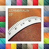 10 Lfm OXFORD 600D Farbe 03   LEHMBRAUN   Polyester Stoff