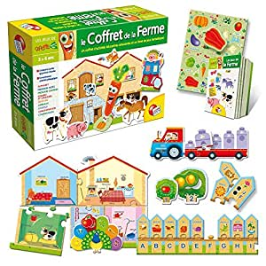 lisciani giochi f38770 jeu educatif et scientifique le coffret de la ferme. Black Bedroom Furniture Sets. Home Design Ideas