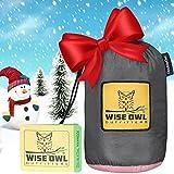 Wise Owl Outfitters Hängematte - Einzel- Und Doppel Camping Hängematten - - Tragbares Leichtes Fallschirm Nylon. DoppeltOwl DO Holzkohle Grau Und Rose -