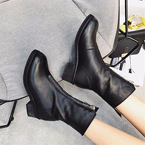 DHiver Rembourré Coton De HXVU56546 Avant Bottes Zip Velours Chaudes Plus Bottes Plus black Martin Chaussures f5WwxBqg