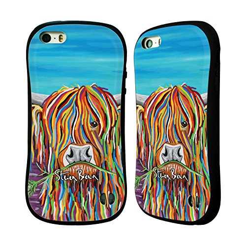 Ufficiale Steven Brown Katie Mccoo Mucca Delle Montagne 2 Case Ibrida per Apple iPhone 7 / iPhone 8 Hamish Mccoo