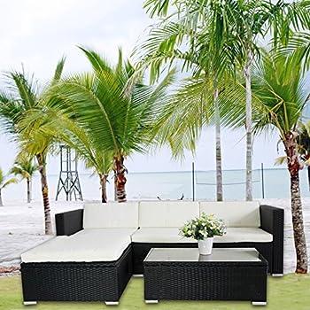 Rattan lounge schwarz grau  Amazon.de: Hansson Polyrattan Lounge Sitzgruppe Gartenmöbel ...