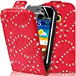 Supergets� Samsung Galaxy Mini 2 S6500 Design PU Leather Case, Screen Protector and Polishing Cloth