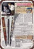 1930inkograph lápiz punta pluma estilográfica reproducción de aspecto Vintage Metal placa metálica, 12x 18inches