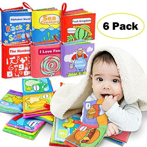 Stoffbuch für Babys, Soft-Bilderbuch Baby Spielzeug Pädagogisches Kleinkindspielzeug Baby Buch zur Stärkung...