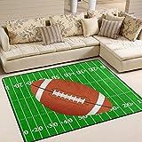 Use7 3D American Football Sport Teppich Teppich Teppich für Wohnzimmer Schlafzimmer, Textil, Mehrfarbig, 160cm x 122cm(5.3 x 4 feet)