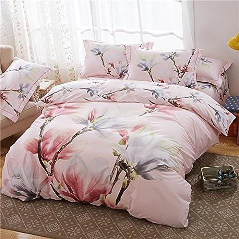 Bettbezug Sets Vier Sets der Baumwolle Twill Quilt Bettwäsche, H, Eastern King