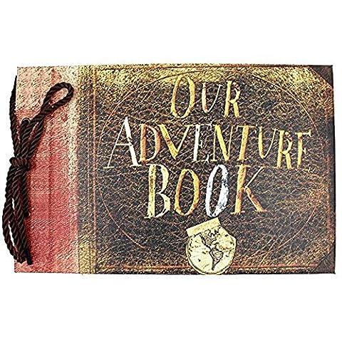 SAIBANG Our Adventure Book Pixar Up Handmade DIY Scrapbook/Photo Album
