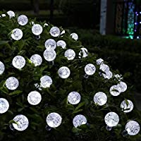 50 LED Solar Powered Outdoor String Lights by iihome