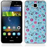 Funda Huawei Enjoy 5, Funda Huawei Y6 Pro - Fubaoda - 3D Realzar, Flor colorida Patrón, Gel de Silicona TPU, Fina, Flexible, Resistente a los arañazos en su parte trasera, Amortigua los golpes, funda protectora anti-golpes para Huawei Enjoy 5 / Y6 Pro