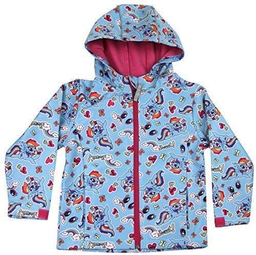 Mädchen blau My little Pony Jacke mit Kapuze Kinder mit Reißverschluss Fleece Mantel - Blau, 2-3 Years (Mädchen Jacke My Little Pony)