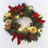 Kamaca LED Adventskranz Tannenkranz beleuchteter Kranz fertig dekoriert mit LED batteriebetrieben Winter Weihnachten