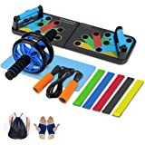 Aurorast Fitness Workout Set 4 Pezzi- Elastici Fitness | Push-up Board 13 in 1| AB Wheel Roller Addominali con Tappetino…