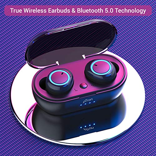 pTron Bassbuds in-Ear True Wireless Bluetooth Headphones (TWS) with Mic - (Black)