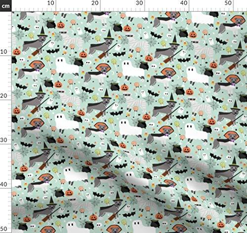 Pitbull, Hund, Hunde, Halloween, Herbst, Haustiere, Hunderasse Stoffe - Individuell Bedruckt von Spoonflower - Design von Petfriendly Gedruckt auf Synthetik Jersey