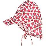 LACOFIA Cappello da Spiaggia Protezione Solare per Neonato Berretto Estivo Regolabile per Bambini