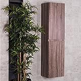 Designer Badezimmer Bad Möbel 1500mm hoher Wand Schrank - Eiche Effekt Harmony