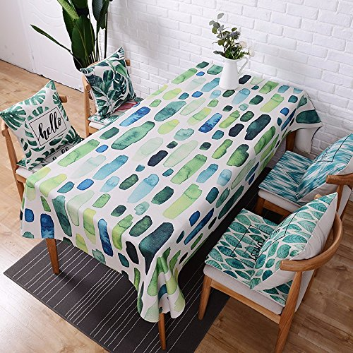 110* 170cm grün blau Geometrische Art Nordic skandinavischen modernes in in Esstisch Tuch Baumwolle Leinen Schreibtisch Garden rechteckig, quadratisch non-ironing Tischläufer