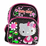 Hello Kitty Flowers Black/Pink Backpack ...
