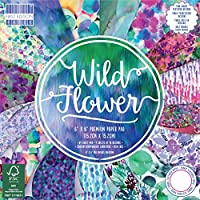 Premium Craft Cardstock First Edition 6x6 Designer Paper Pad - Wild Flower
