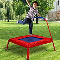 GYMAX Kids Active Mini Trampoline Toys Junior Children Exercise Sporting Bouncer Indoor Outdoor W/ Handle