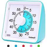 Yunbaoit Minuteur analogique visuel, Compte à rebours Silencieux, Outil de Gestion du Temps pour Enfants et Adultes(Blue)