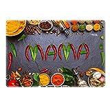 Tischset mit Namen ''Mama'' Motiv Chili - Tischunterlage, Platzset, Platzdeckchen, Platzunterlage, Namenstischset